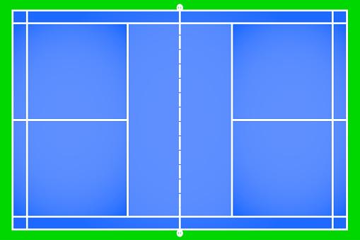 Badminton court vector