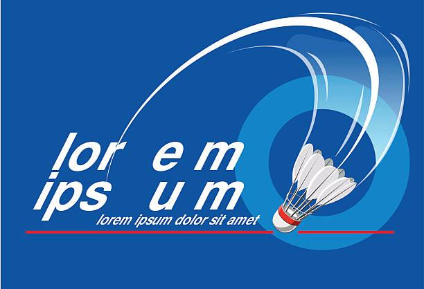 Badminton Event Logo vector art illustration