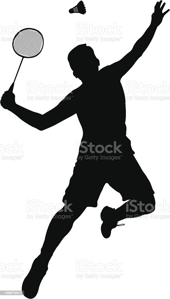 Badminton Player vector art illustration