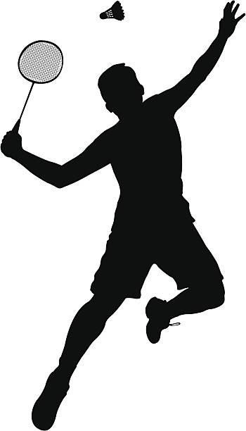 Badminton Player vector art illustration