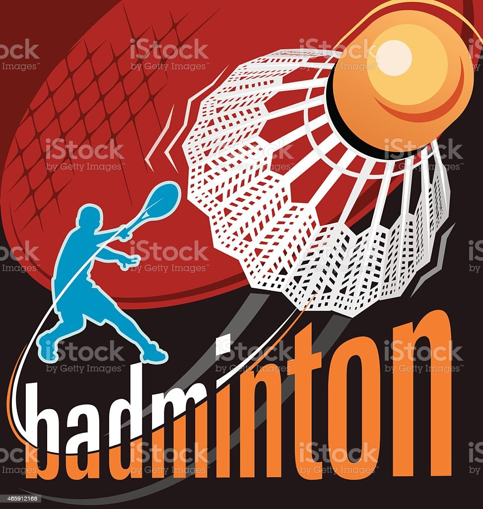 badminton poster vector vector art illustration