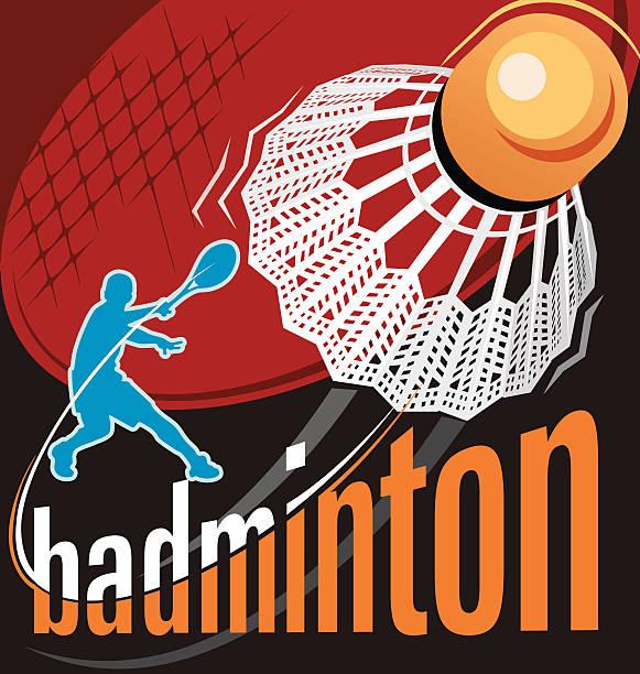 vector poster de badminton - ilustração de arte vetorial