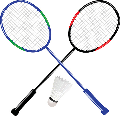 Badminton Racket With Shuttlecock Stock Illustration - Download Image Now