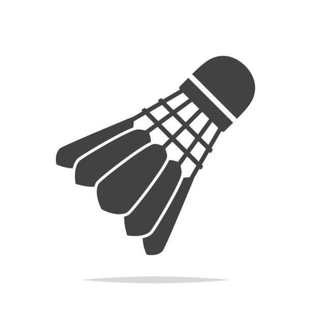 Badminton shuttlecock icon vector isolated Vector element shuttlecock stock illustrations