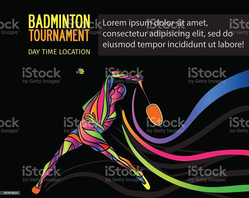 Badminton sport Einladung poster oder flyer Hintergrund – Vektorgrafik
