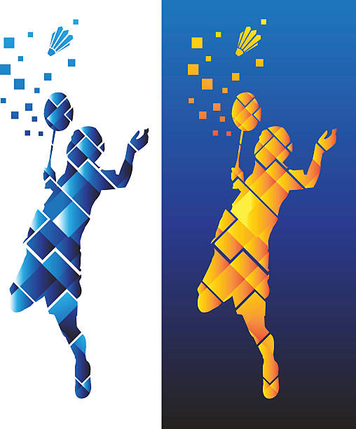 Badminton Sports vector art illustration