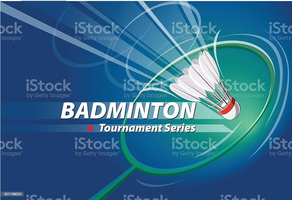 Badminton Tournament series logo event vector art illustration