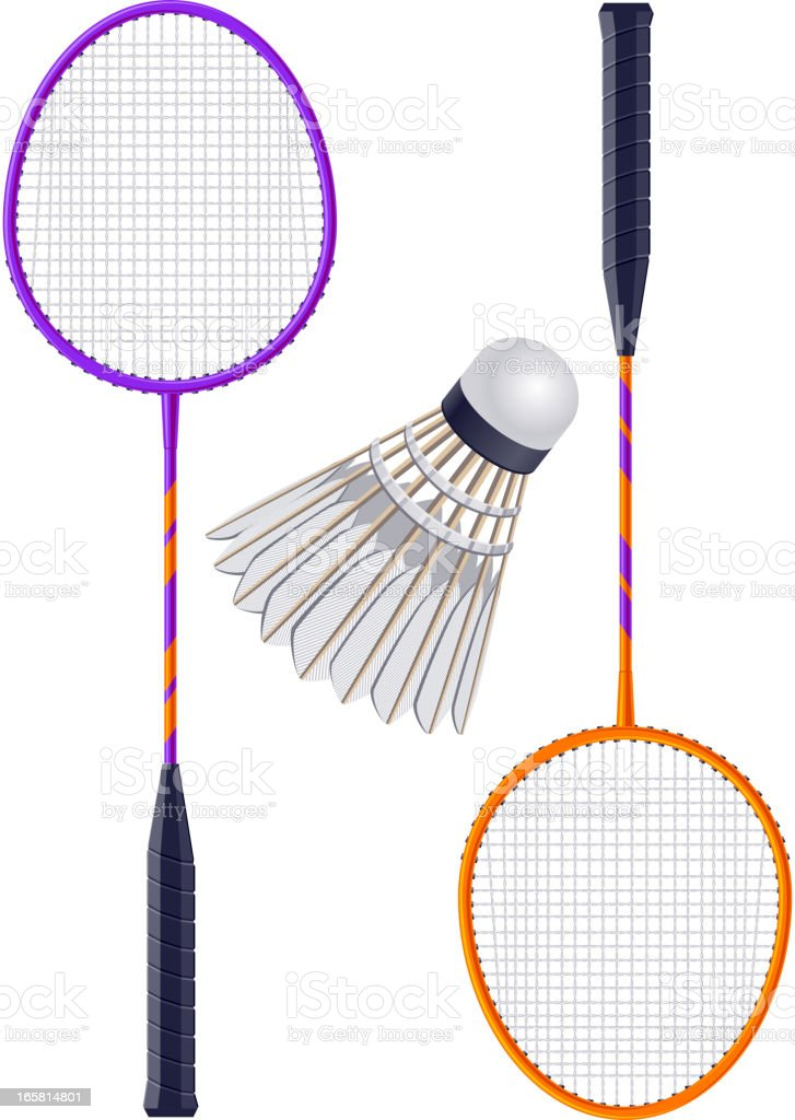 Badminton vector art illustration