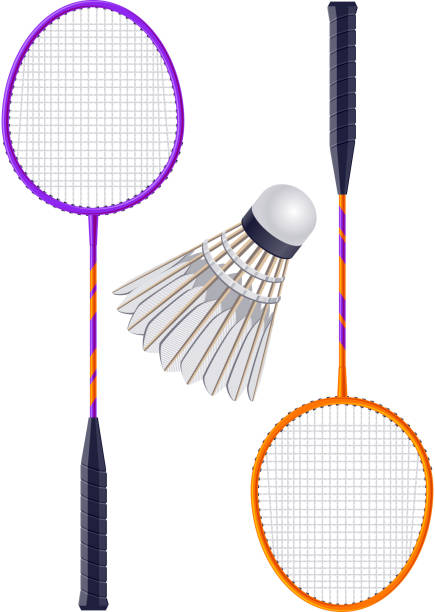 Badminton - ilustração de arte vetorial