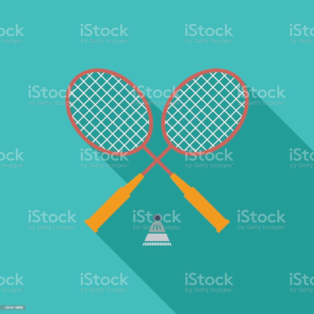 Badminton vector art illustration