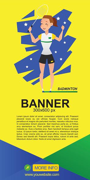 badminton web banner design