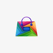 Bag Colorful Design Concept Illustration Vector Template