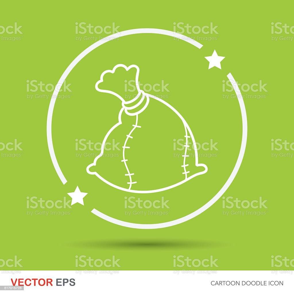bag doodle vector art illustration