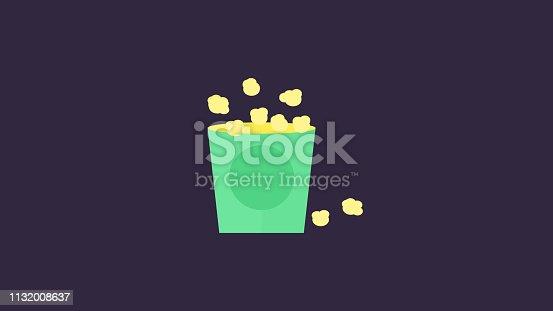 Bag full of popcorn Icon