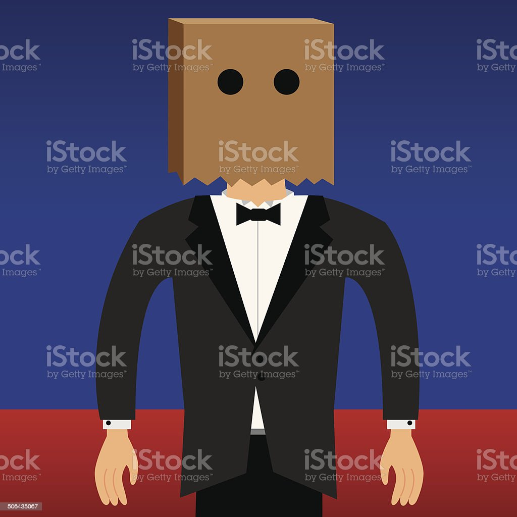 Bag Head vector art illustration