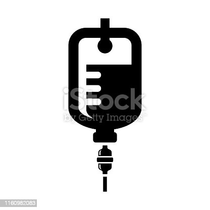 IV bag icon isolated on white background