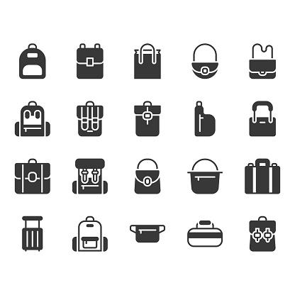 Bag icon set.Vector illustration