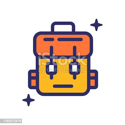 istock Bag icon vector illustration for logo, web,landing page, stickers and background 1280522876