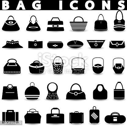 f562910ba 1008994372istock La bolsa de los iconos. Compras los iconos conjunto.  1008994372