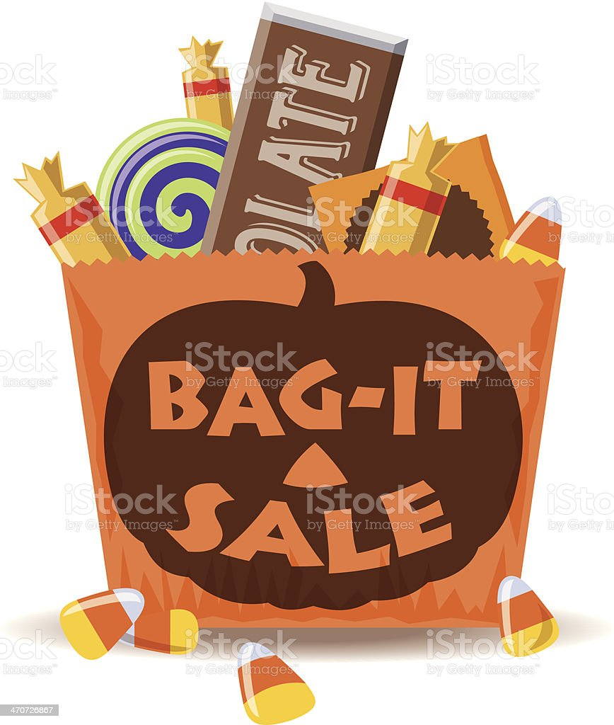 Bag It Sale Heading C vector art illustration