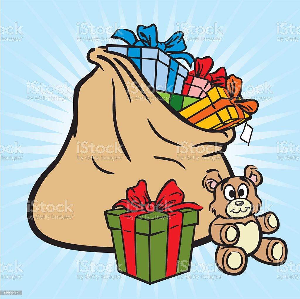 Bag of Christmas Gifts - Royaltyfri Bag vektorgrafik