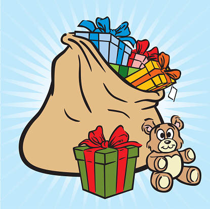 Bag Of Christmas Gifts-vektorgrafik och fler bilder på Bag