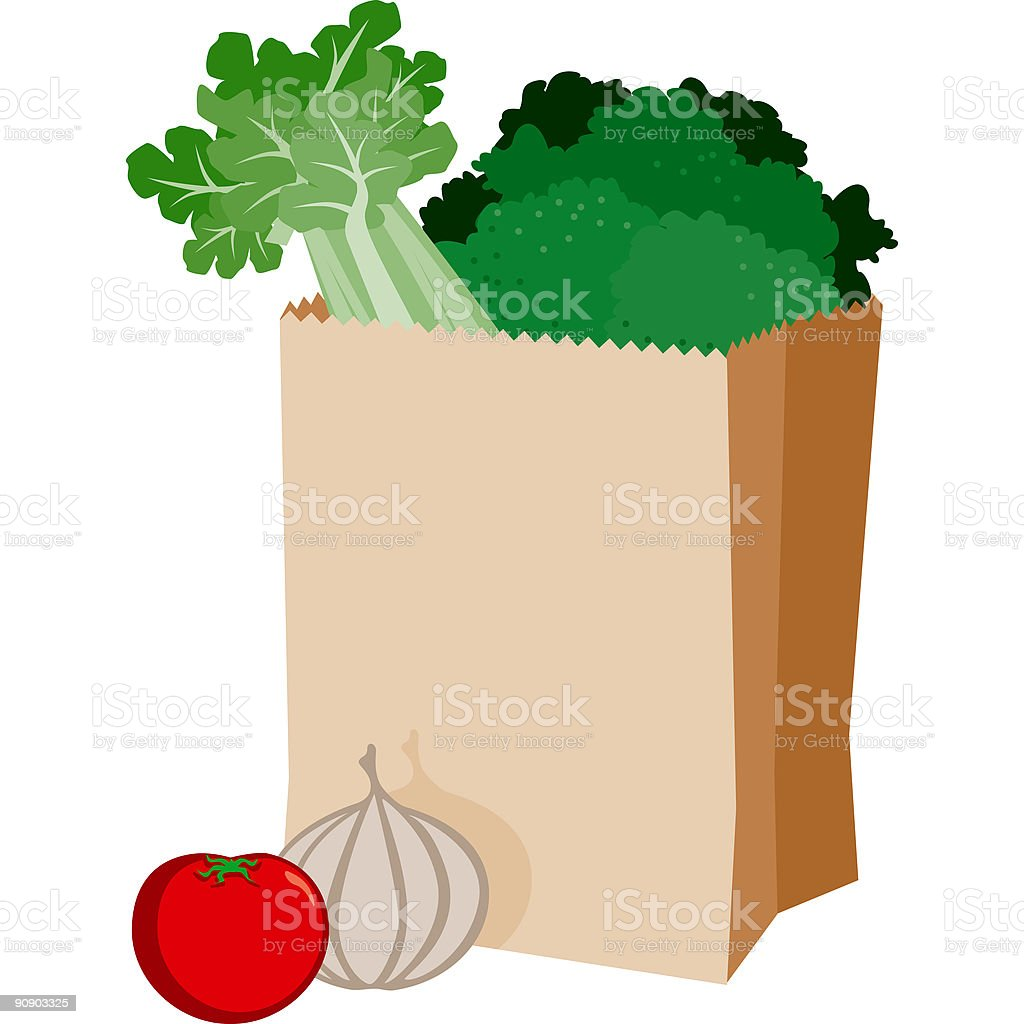 Bag of Groceries royalty-free bag of groceries stock vector art & more images of bag