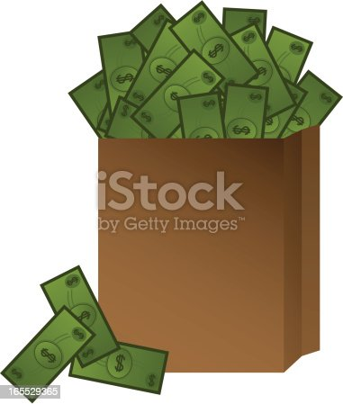 Vector file of bag of money.
