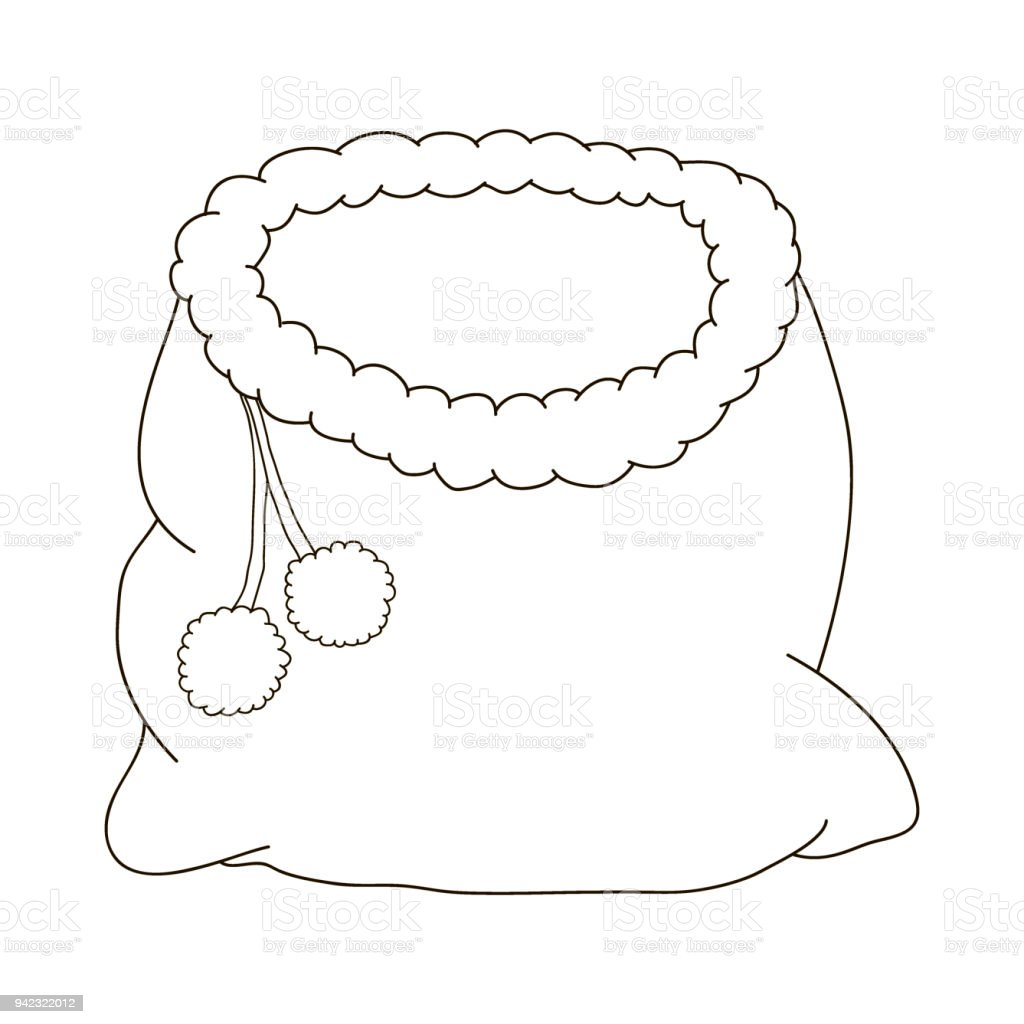 Bag Of Santa Claus For A Christmas Cartoon Coloring Pages
