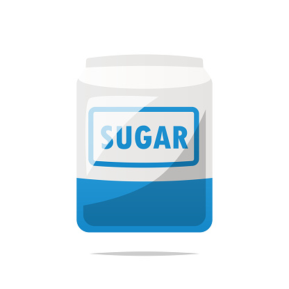 Bag of sugar vector isolated