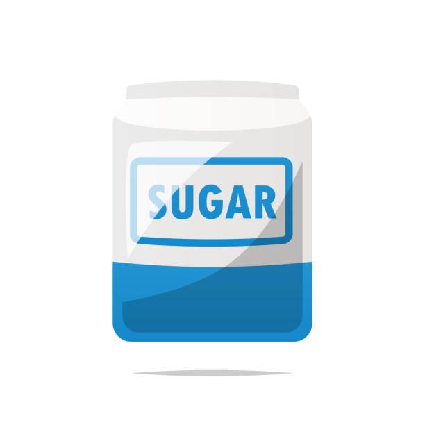 ilustrações de stock, clip art, desenhos animados e ícones de bag of sugar vector isolated - açúcar