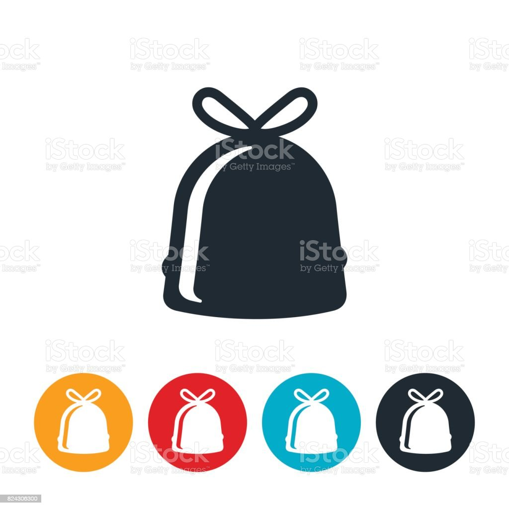 Bag of Trash Icon vector art illustration