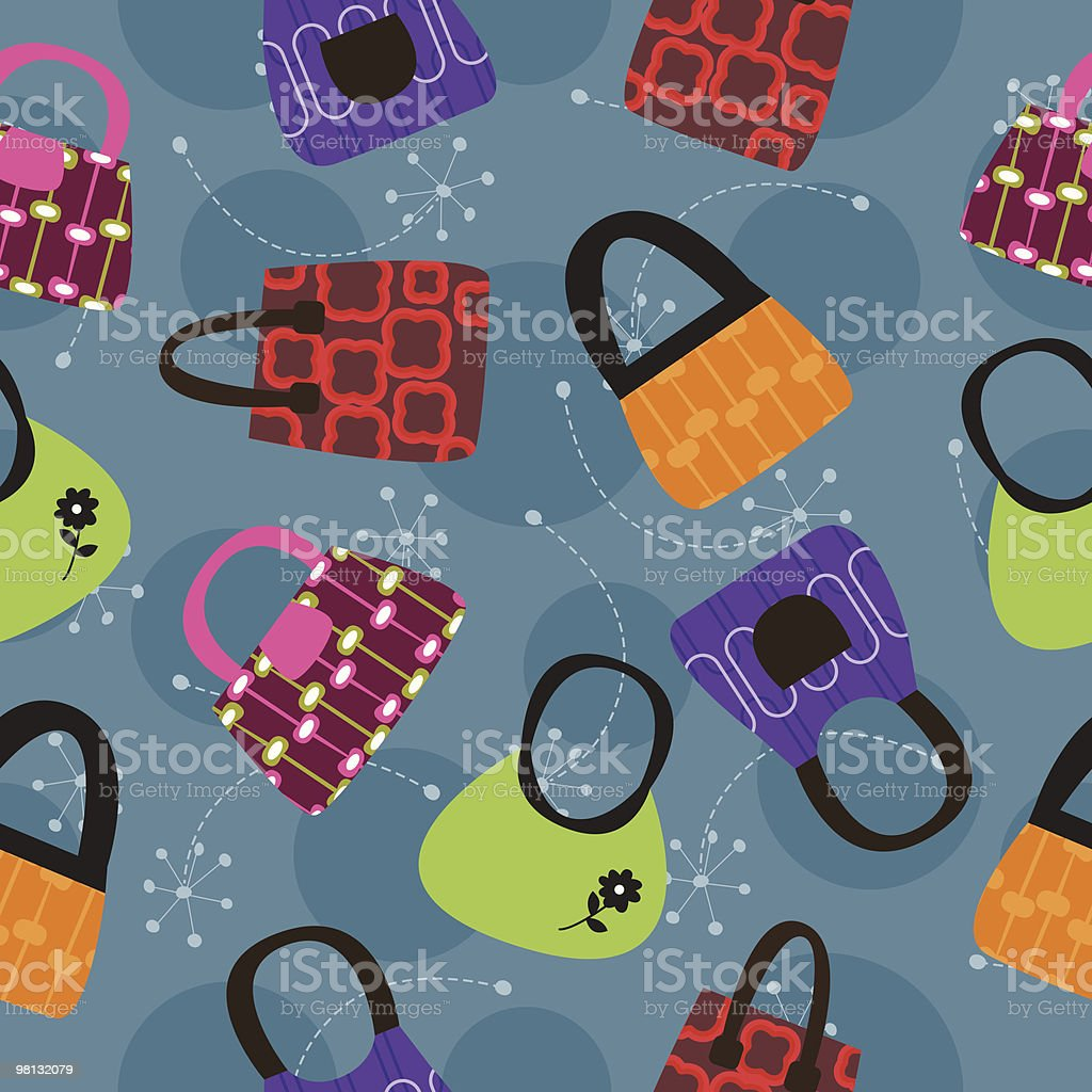 Bag pattern background royalty-free bag pattern background stock vector art & more images of backgrounds