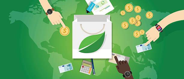 tasche einkaufen schuld kostenfreien umweltfreundlichen eco umwelt verbrauch kaufen - upcycling stock-grafiken, -clipart, -cartoons und -symbole