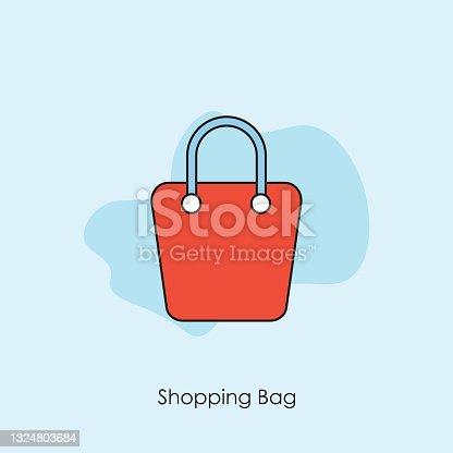 istock Bag shopping vector icon 1324803684