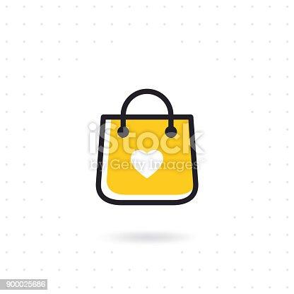 istock Bag shopping vector icon 900025686
