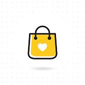 Bag shopping vector icon