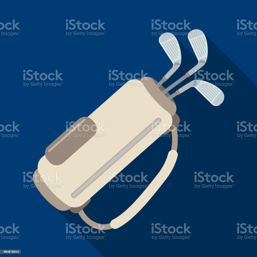 A bag with golf clubs.Golf club single icon in flat style vector symbol stock illustration web. royalty-free a bag with golf clubsgolf club single icon in flat style vector symbol stock illustration web stock vector art & more images of bag