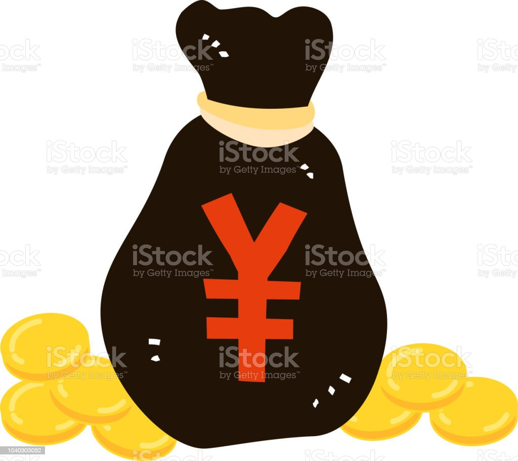 Bag with money vector art illustration