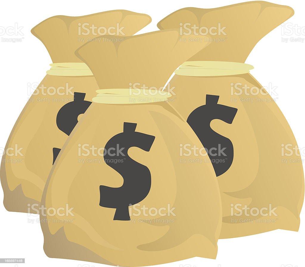 Bolsa de dinero ilustración de bolsa de dinero y más banco de imágenes de ahorros libre de derechos