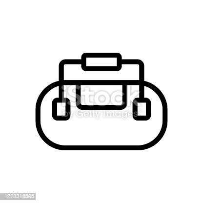 bag with securely attached handles icon vector. bag with securely attached handles sign. isolated contour symbol illustration