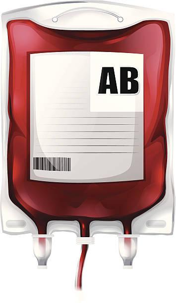 bag with type ab blood - medical technology 幅插畫檔、美工圖案、卡通及圖標