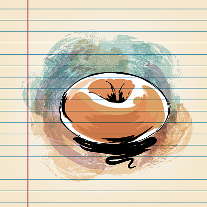 Bagel  Drawing on Ruled Paper