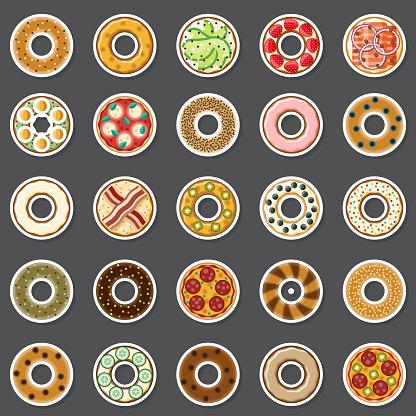 Bagel Sticker Set