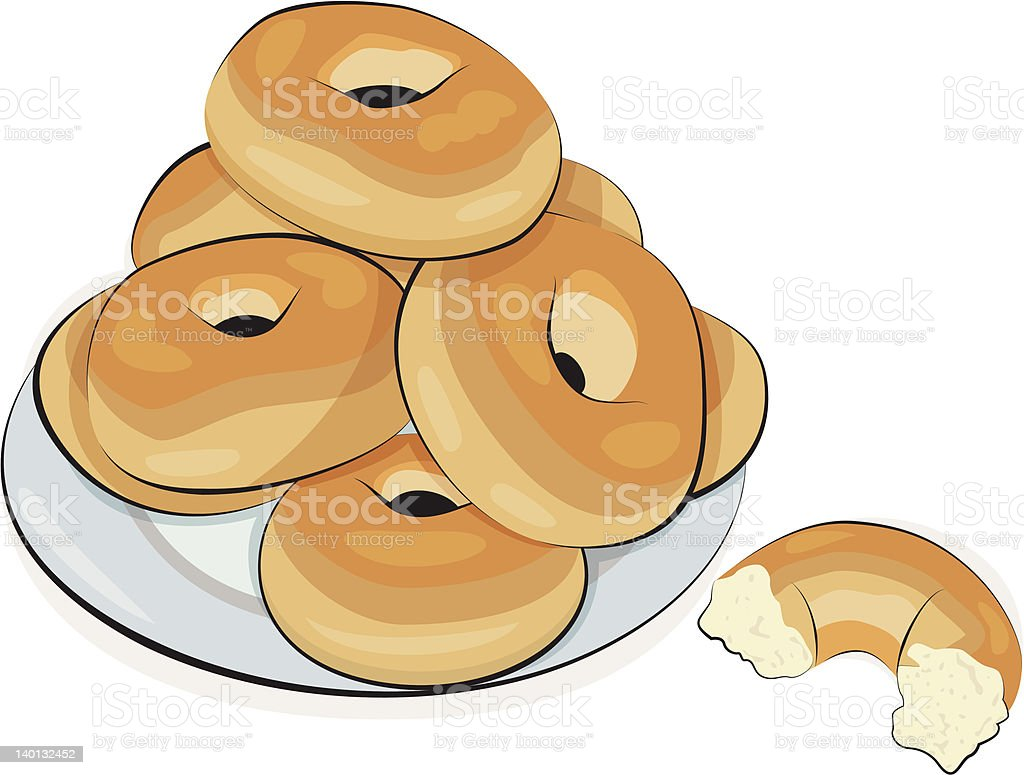 royalty free bagel clip art vector images illustrations istock rh istockphoto com bagel and coffee clip art bagel images clip art