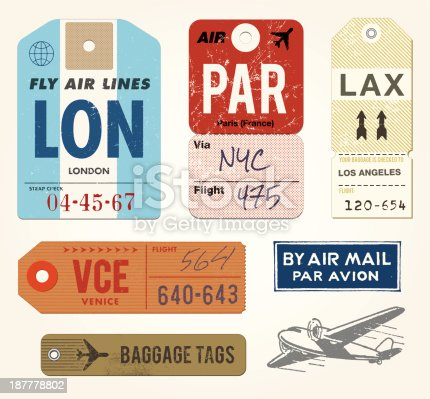 istock Baggage Tags and Stamps 187778802