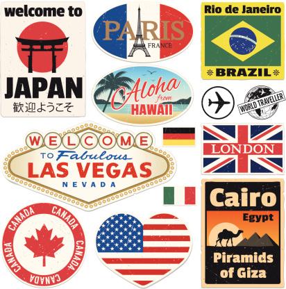 Baggage Vintage Travel Stickers