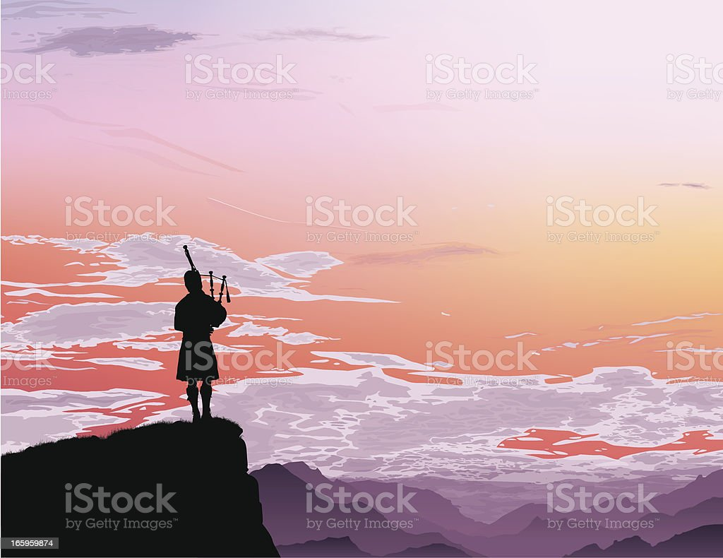 Bagpipe vector art illustration