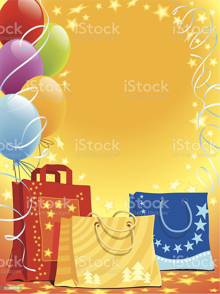 Bags and balloons royalty-free stock vector art