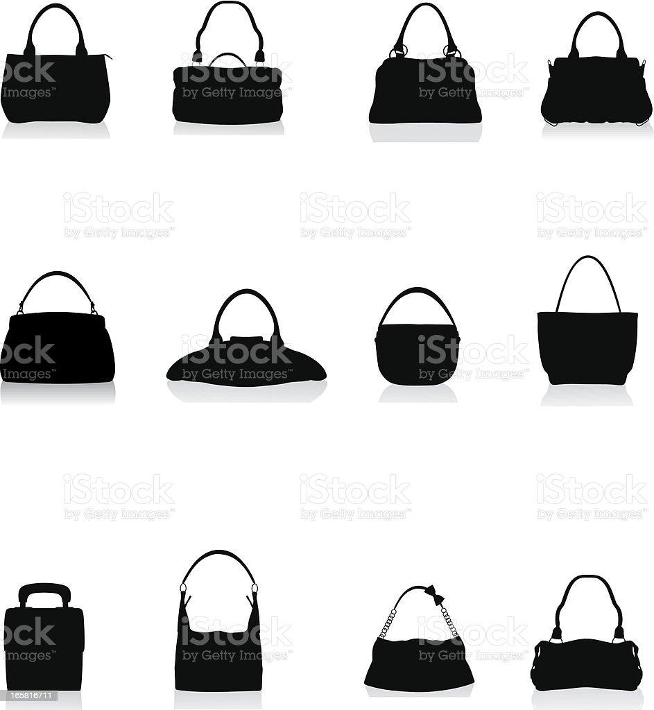 Bags Silhouette vector art illustration
